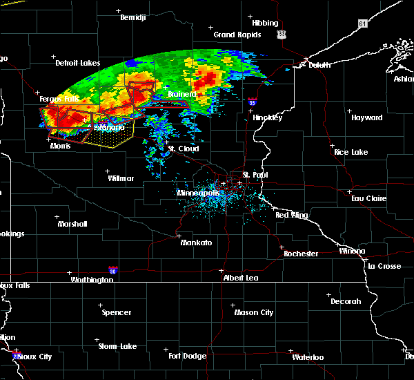 Radar Image for Severe Thunderstorms near Farwell, MN at 7/12/2015 7:29 PM CDT