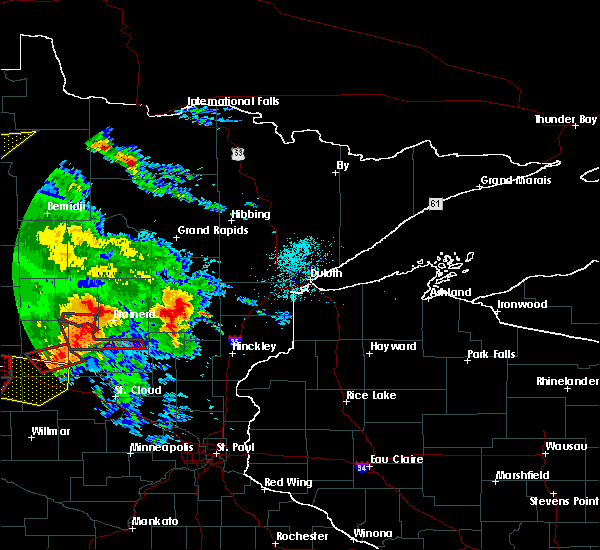 Radar Image for Severe Thunderstorms near Brainerd, MN at 7/12/2015 7:38 PM CDT