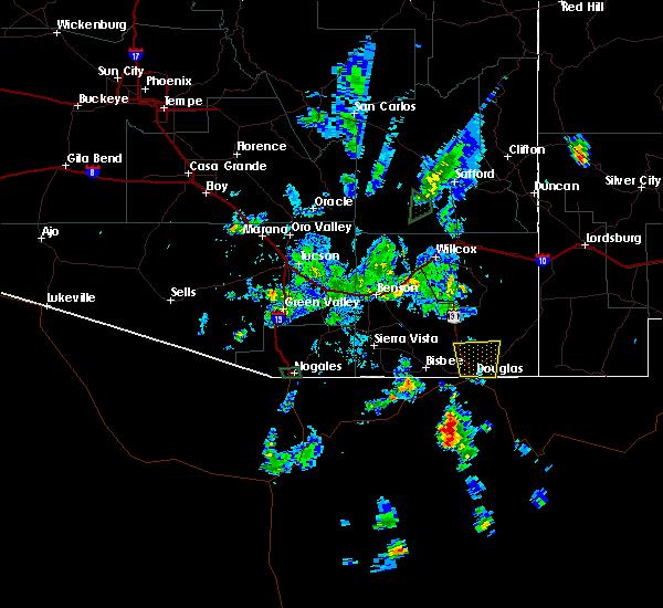 Radar Image for Severe Thunderstorms near Douglas, AZ at 7/12/2015 5:42 PM MST