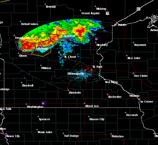 Radar Image for Severe Thunderstorms near Farwell, MN at 7/12/2015 7:42 PM CDT