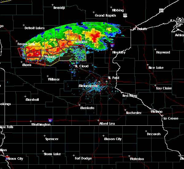 Radar Image for Severe Thunderstorms near Elmdale, MN at 7/12/2015 7:44 PM CDT
