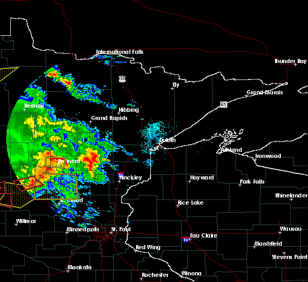 Radar Image for Severe Thunderstorms near Brainerd, MN at 7/12/2015 7:46 PM CDT