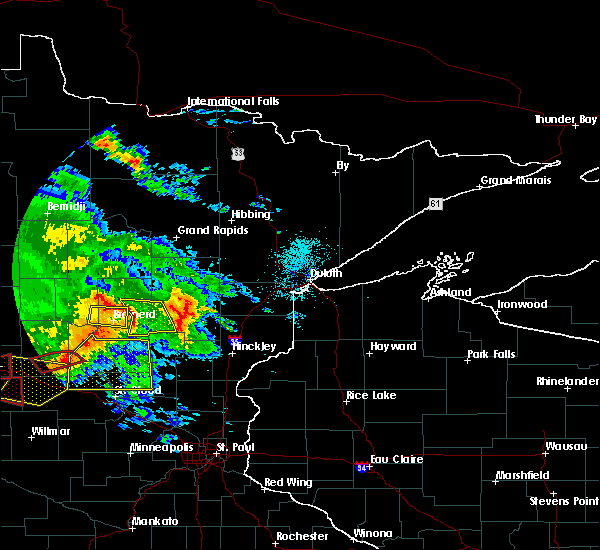 Radar Image for Severe Thunderstorms near Ironton, MN at 7/12/2015 7:54 PM CDT