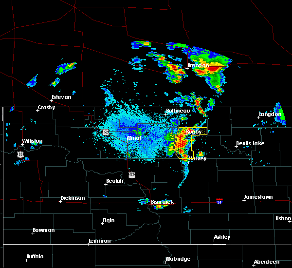Radar Image for Severe Thunderstorms near Rugby, ND at 7/12/2015 7:56 PM CDT