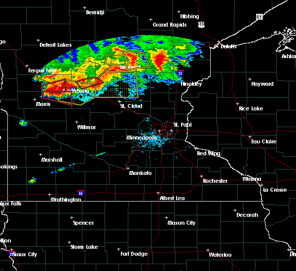 Radar Image for Severe Thunderstorms near Forada, MN at 7/12/2015 8:00 PM CDT