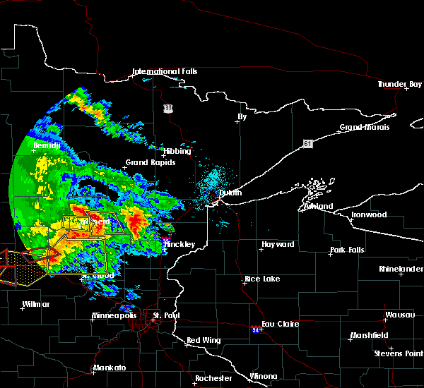 Radar Image for Severe Thunderstorms near Brainerd, MN at 7/12/2015 8:00 PM CDT