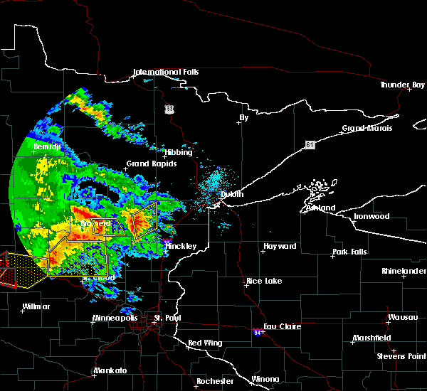 Radar Image for Severe Thunderstorms near Cuyuna, MN at 7/12/2015 8:03 PM CDT