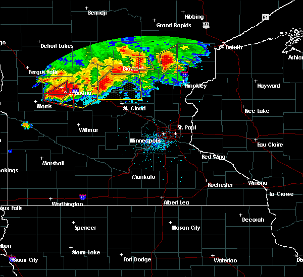 Radar Image for Severe Thunderstorms near Farwell, MN at 7/12/2015 8:06 PM CDT