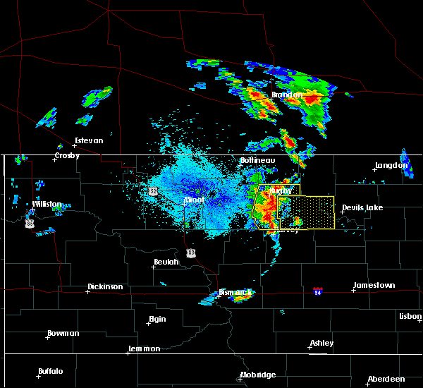 Radar Image for Severe Thunderstorms near Churchs Ferry, ND at 7/12/2015 8:09 PM CDT