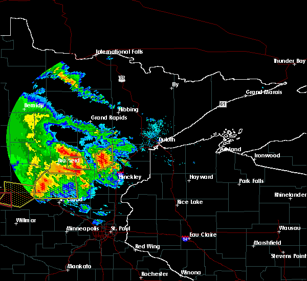 Radar Image for Severe Thunderstorms near Deerwood, MN at 7/12/2015 8:12 PM CDT