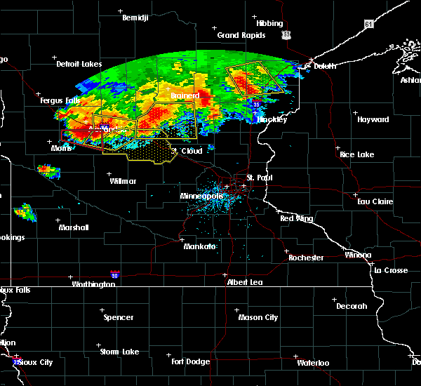 Radar Image for Severe Thunderstorms near Elmdale, MN at 7/12/2015 8:19 PM CDT