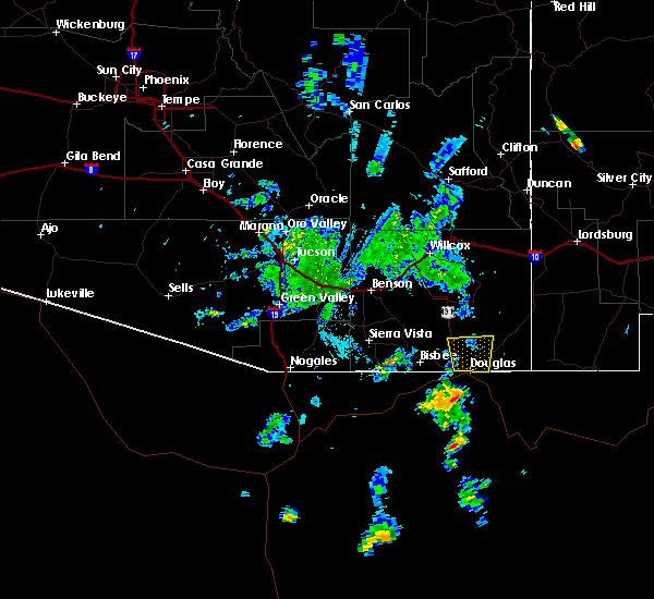Radar Image for Severe Thunderstorms near Douglas, AZ at 7/12/2015 6:22 PM MST