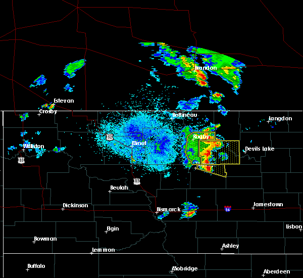 Radar Image for Severe Thunderstorms near Churchs Ferry, ND at 7/12/2015 8:32 PM CDT