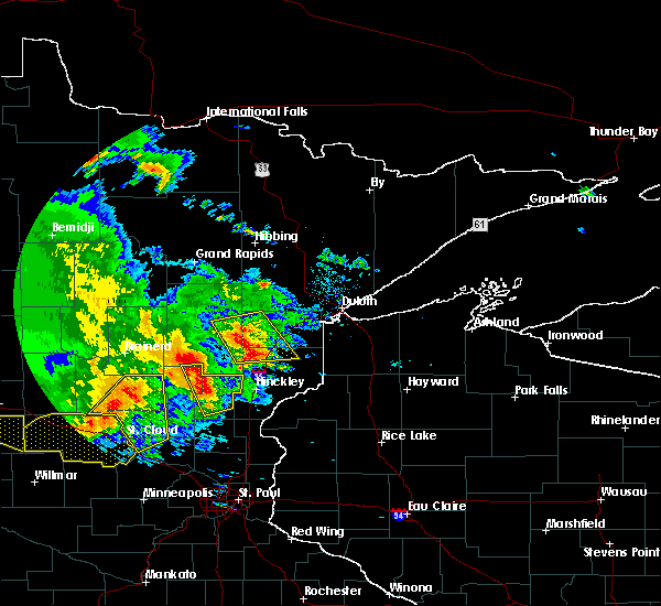 Radar Image for Severe Thunderstorms near Ogilvie, MN at 7/12/2015 8:35 PM CDT