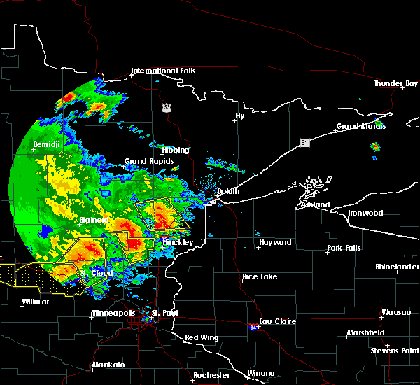 Radar Image for Severe Thunderstorms near Barnum, MN at 7/12/2015 8:41 PM CDT