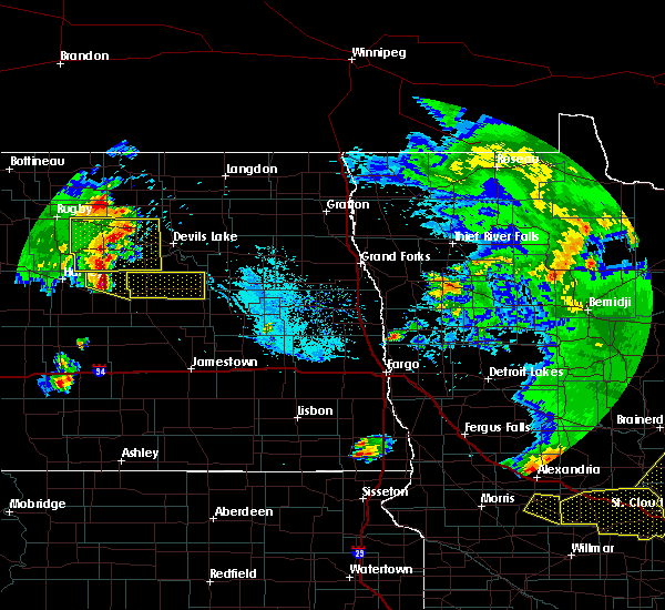 Radar Image for Severe Thunderstorms near New Rockford, ND at 7/12/2015 8:50 PM CDT