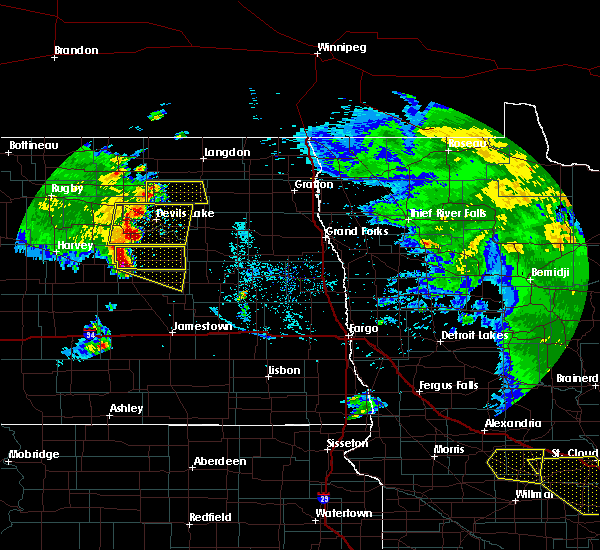 Radar Image for Severe Thunderstorms near New Rockford, ND at 7/12/2015 9:22 PM CDT