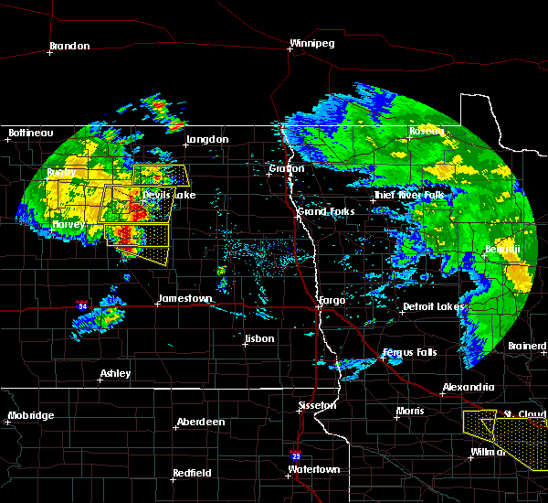 Radar Image for Severe Thunderstorms near McHenry, ND at 7/12/2015 9:38 PM CDT