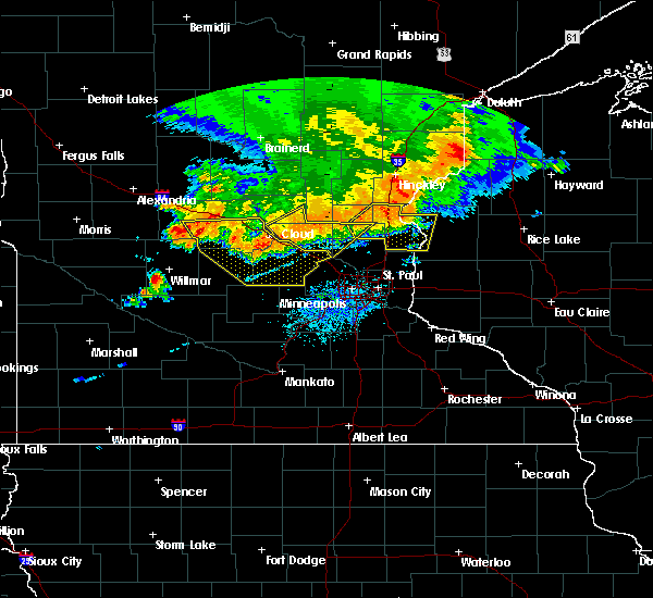 Radar Image for Severe Thunderstorms near Orono, MN at 7/12/2015 9:51 PM CDT