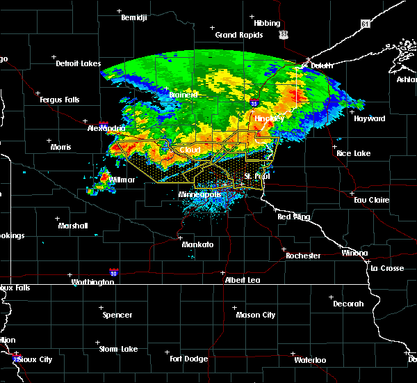 Radar Image for Severe Thunderstorms near St. Francis, MN at 7/12/2015 9:53 PM CDT