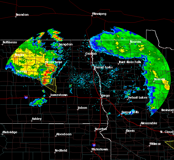 Radar Image for Severe Thunderstorms near McHenry, ND at 7/12/2015 10:00 PM CDT