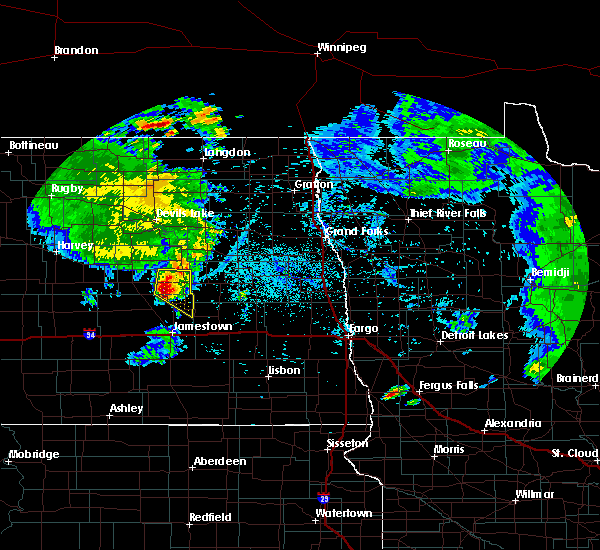 Radar Image for Severe Thunderstorms near McHenry, ND at 7/12/2015 10:18 PM CDT
