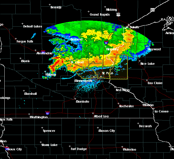 Radar Image for Severe Thunderstorms near Fridley, MN at 7/12/2015 10:21 PM CDT