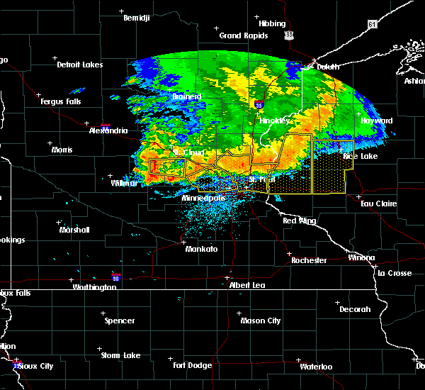 Radar Image for Severe Thunderstorms near Watkins, MN at 7/12/2015 10:36 PM CDT