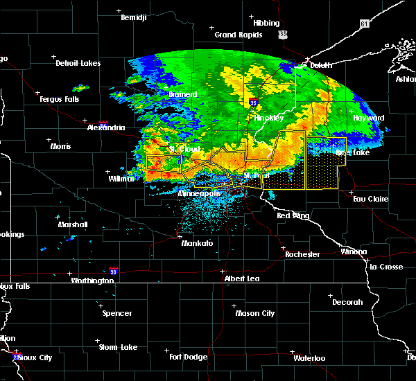 Radar Image for Severe Thunderstorms near Fridley, MN at 7/12/2015 10:40 PM CDT