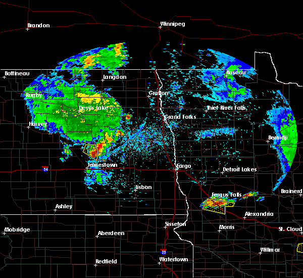 Radar Image for Severe Thunderstorms near Elbow Lake, MN at 7/12/2015 10:53 PM CDT