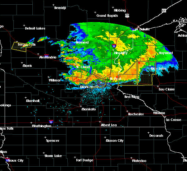Radar Image for Severe Thunderstorms near Chetek, WI at 7/12/2015 10:59 PM CDT