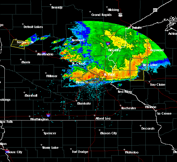 Radar Image for Severe Thunderstorms near Fridley, MN at 7/12/2015 11:18 PM CDT
