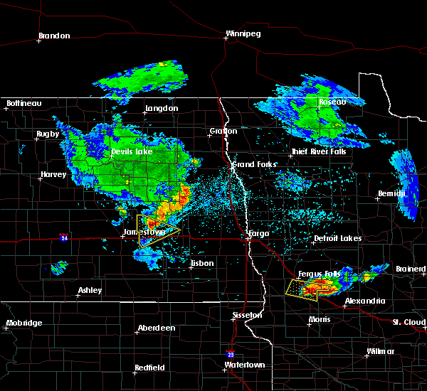Radar Image for Severe Thunderstorms near Fergus Falls, MN at 7/12/2015 11:24 PM CDT
