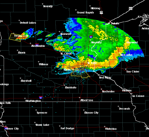Radar Image for Severe Thunderstorms near Chetek, WI at 7/12/2015 11:29 PM CDT