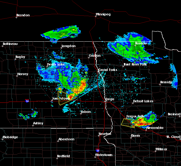 Radar Image for Severe Thunderstorms near Elbow Lake, MN at 7/12/2015 11:44 PM CDT