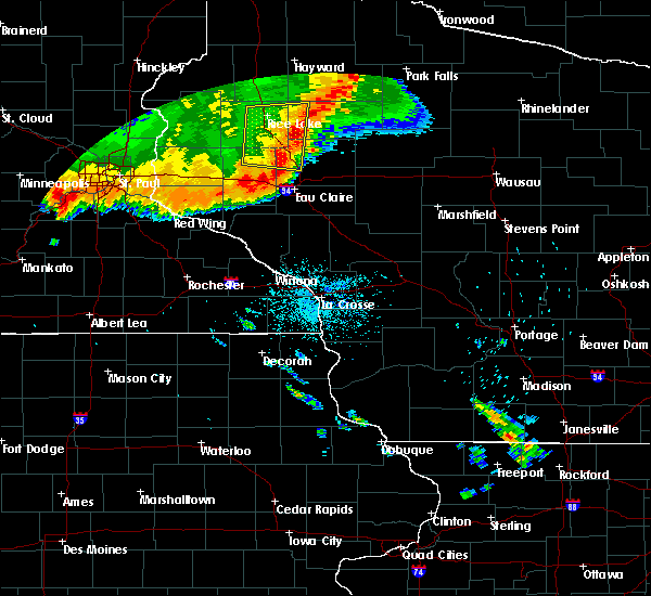 Radar Image for Severe Thunderstorms near Bloomer, WI at 7/13/2015 12:03 AM CDT