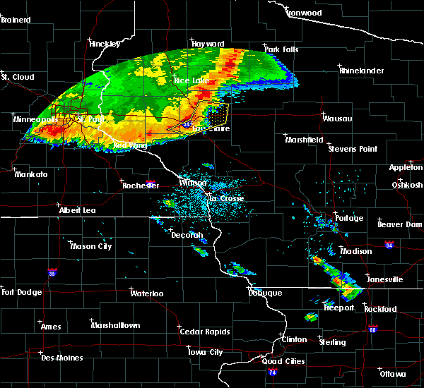 Radar Image for Severe Thunderstorms near Cadott, WI at 7/13/2015 12:24 AM CDT