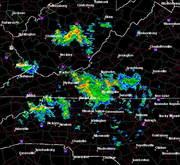 Radar Image for Severe Thunderstorms near Penhook, VA at 7/13/2015 2:13 AM EDT