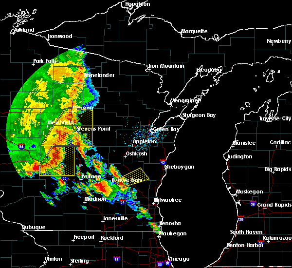 Radar Image for Severe Thunderstorms near Arpin, WI at 7/13/2015 2:45 AM CDT