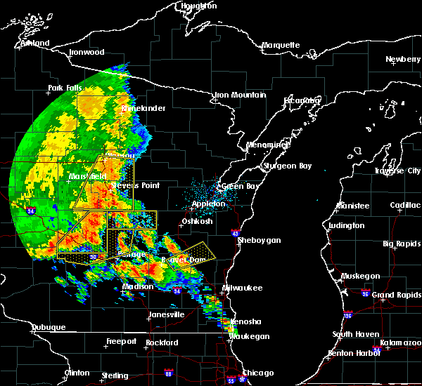 Radar Image for Severe Thunderstorms near Mosinee, WI at 7/13/2015 2:58 AM CDT