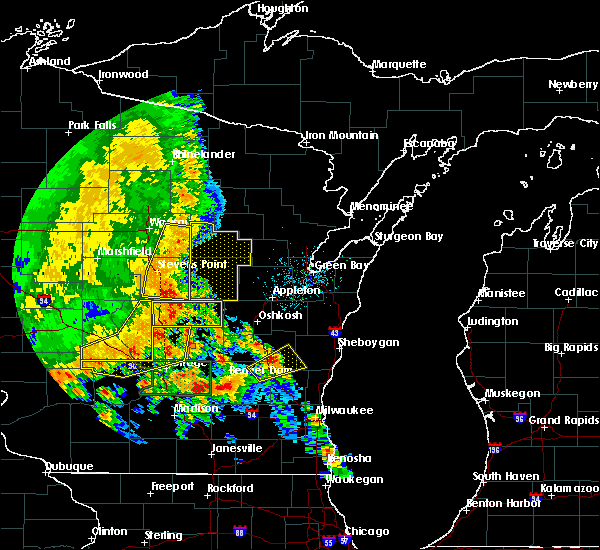 Radar Image for Severe Thunderstorms near Bancroft, WI at 7/13/2015 3:13 AM CDT