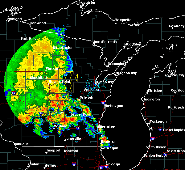 Radar Image for Severe Thunderstorms near Waupaca, WI at 7/13/2015 3:24 AM CDT