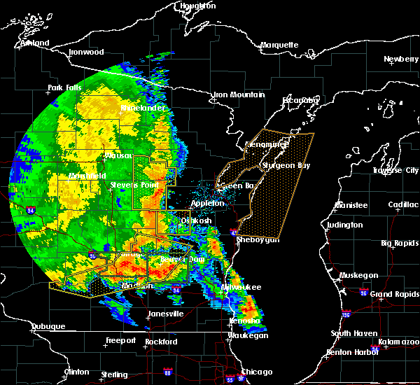 Radar Image for Severe Thunderstorms near Waupaca, WI at 7/13/2015 3:52 AM CDT