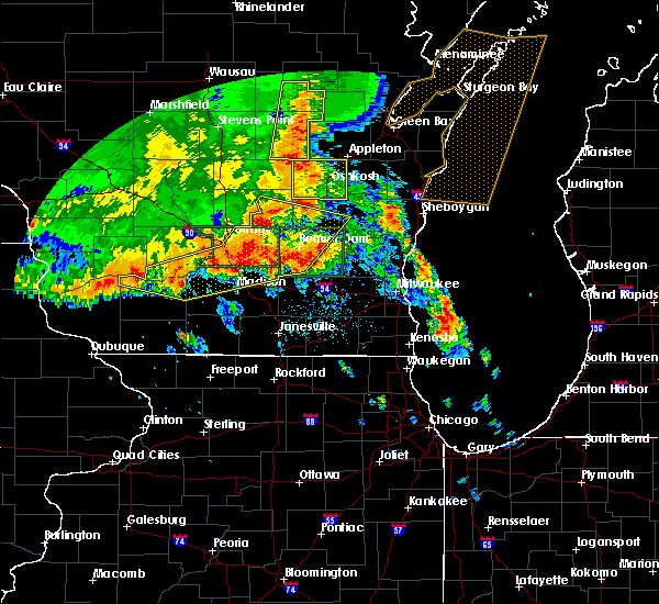 Radar Image for Severe Thunderstorms near DeForest, WI at 7/13/2015 3:52 AM CDT