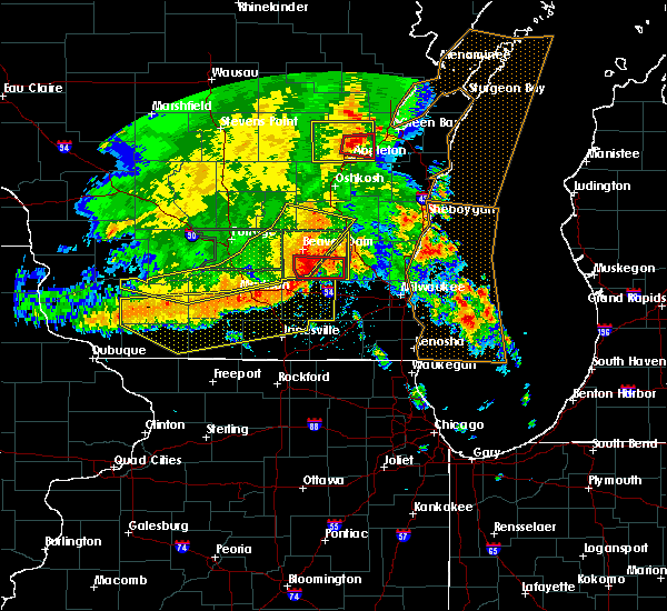 Radar Image for Severe Thunderstorms near Slinger, WI at 7/13/2015 4:25 AM CDT