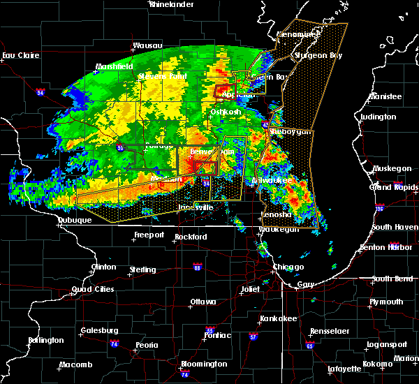 Radar Image for Severe Thunderstorms near Monticello, WI at 7/13/2015 4:34 AM CDT