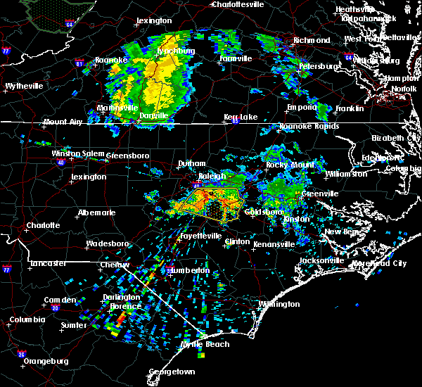 Radar Image for Severe Thunderstorms near Kenly, NC at 7/13/2015 7:41 AM EDT