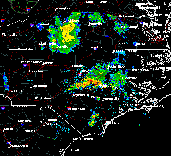 Radar Image for Severe Thunderstorms near Kenly, NC at 7/13/2015 7:59 AM EDT