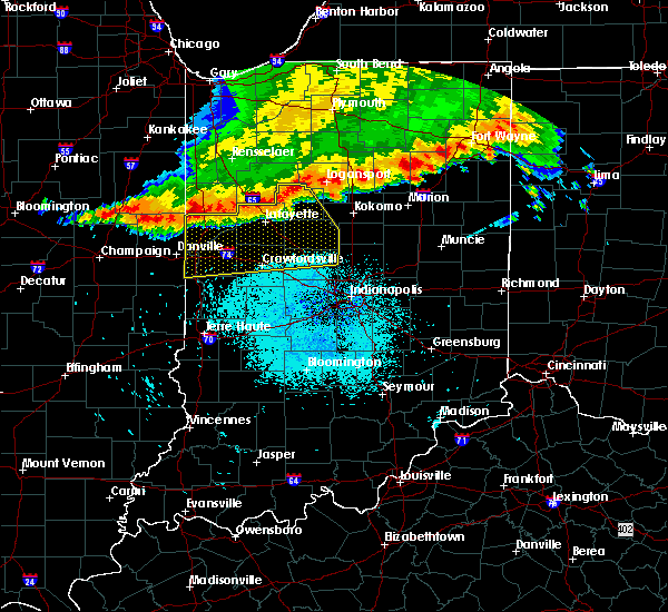 Radar Image for Severe Thunderstorms near Mulberry, IN at 7/13/2015 10:31 AM EDT