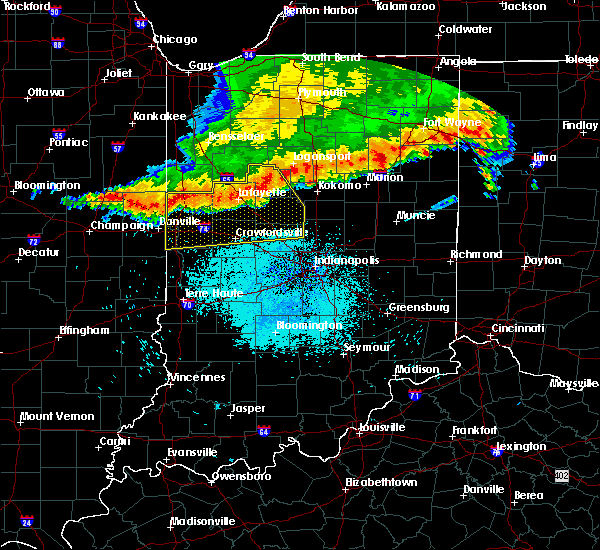 Radar Image for Severe Thunderstorms near Otterbein, IN at 7/13/2015 10:47 AM EDT